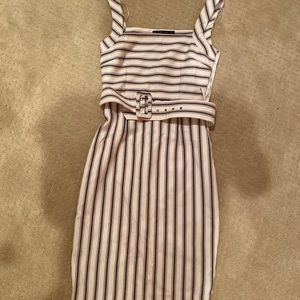 Zara Basics Striped Dress